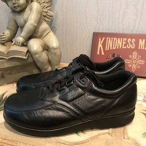 SAS Time Out Black Leather Sneaker